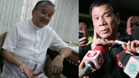 Villegas, left and Duterte (Photo credit: Inquirer.net)