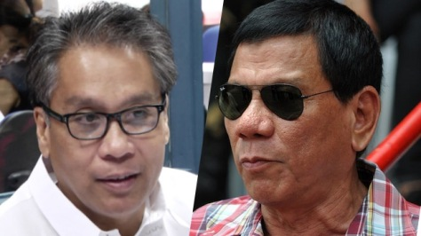 Roxas, left, and Duterte