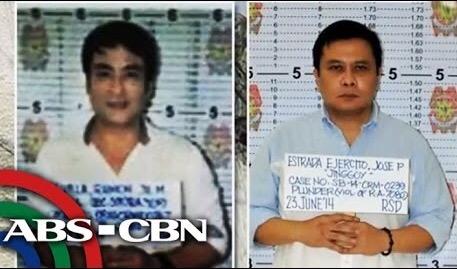 Revilla, left, and Estrada (Photo: ABS-CBN)