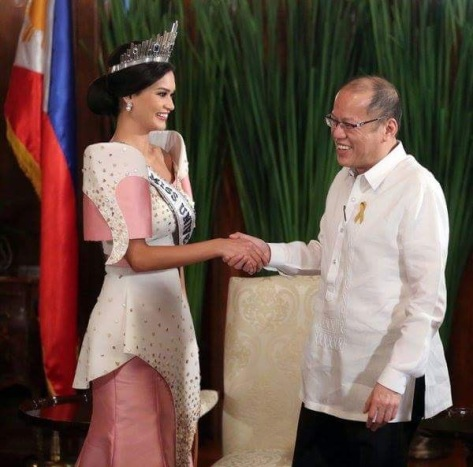 Wurtzbach with Aquino in Malacañang Palace today