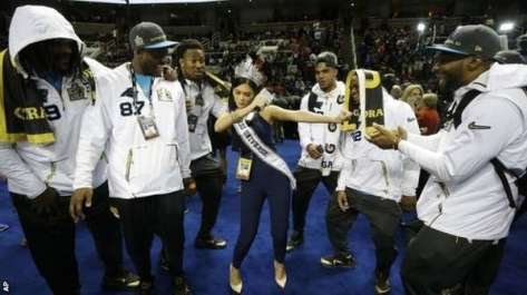 Miss Universe at Super Bowl 50