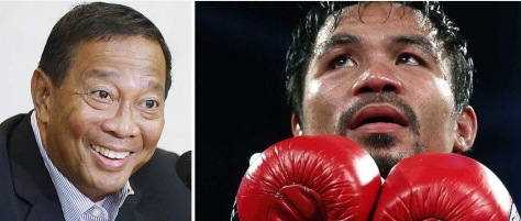 Binay, left, and Pacquiao