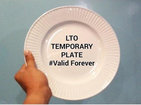 LTO temporary plate (Photo credit: Martin T. Aguda, Jr.)