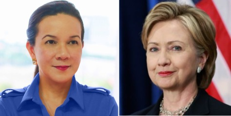 Poe, left, and Clinton