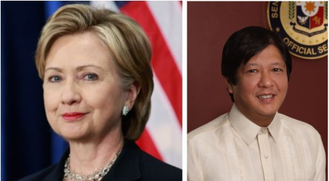 Clinton, left, and Marcos