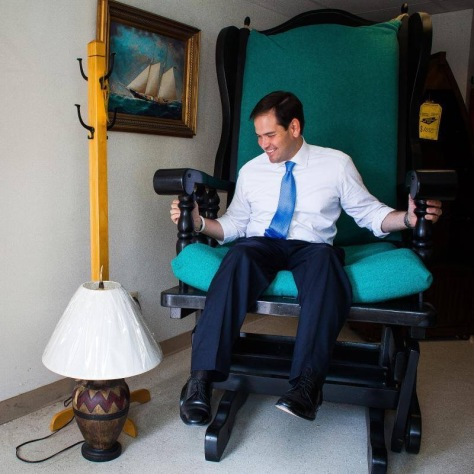 Rubio and his new rocking chair