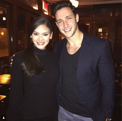 "Miss Universe and the ""Sexiest Doctor Alive"" (photo from Dr. Mikhail Varshavski's Instagram page)"