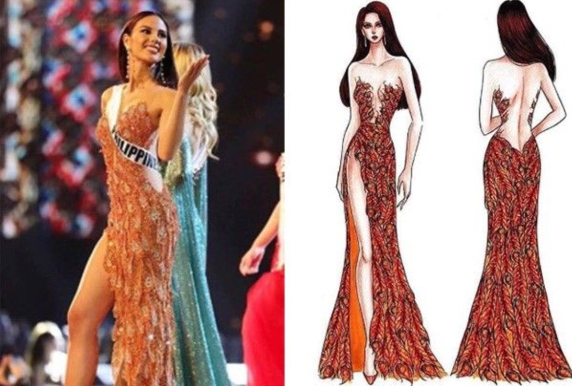 Miss Philippines-Universe Catriona Gray Dons U2018Ibong Adarnau2019 For Evening Gown U2018Darnau2019 For ...